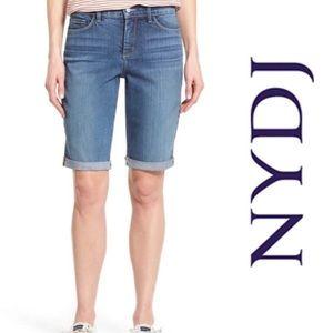 NYDJ Briella Bermuda Roll Cuff Denim Shorts